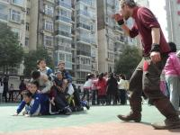 learning with kids in a Wuhan primary school