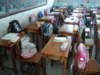 typical classroom in a Chinese primary school